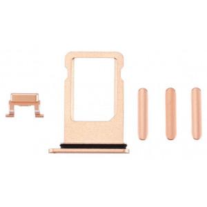 Υποδοχή Κάρτας SIM και Side Button για iPhone 8, Gold SPIP8-0034