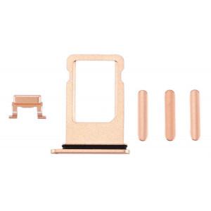 Υποδοχή Κάρτας SIM και Side Button για iPhone Plus, Gold SPIP8-0044