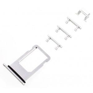 Υποδοχή Κάρτας SIM και Side Button για iPhone 8 Plus, Silver SPIP8-0045