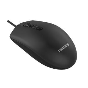 PHILIPS ενσύρματο ποντίκι SPK7204-ΒΚ, 1200DPI, USB, 4 πλήκτρα, μαύρο SPK7204-BK