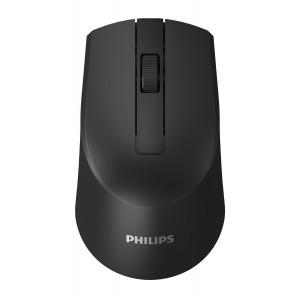 PHILIPS ασύρματο ποντίκι SPK7374, 1600DPI, 3 πλήκτρα, μαύρο SPK7374