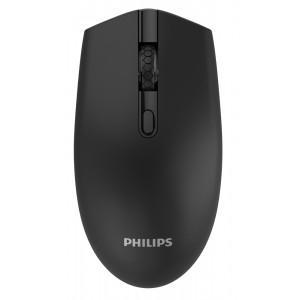 PHILIPS ασύρματο ποντίκι SPK7404, 1600DPI, 4 πλήκτρα, μαύρο SPK7404-BK