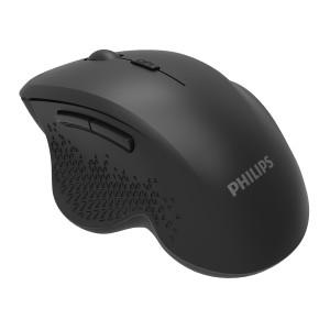 PHILIPS ασύρματο ποντίκι SPK7624, 1600DPI, 6 πλήκτρα, μαύρο SPK7624
