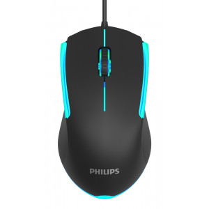 PHILIPS ενσύρματο gaming ποντίκι SPK9314, 1200DPI, 3 πλήκτρα, μαύρο SPK9314-BK