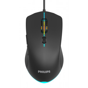 PHILIPS ενσύρματο gaming ποντίκι SPK9404, 2400DPI, 6 πλήκτρα, μαύρο SPK9404-BK
