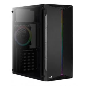 AEROCOOL PC case mid tower SPLIT-G-BK-V1, 192.5x412.5x392mm, 1x RGB fan SPLIT-G-BK-V1