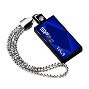 SILICON POWER USB Flash Drive Touch 810, 16GB, USB 2.0, Blue SPT81016GBB