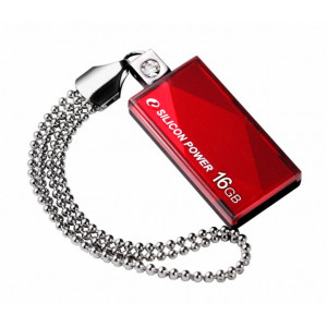 SILICON POWER USB Flash Drive Touch 810, 16GB, USB 2.0, Red SPT81016GBR
