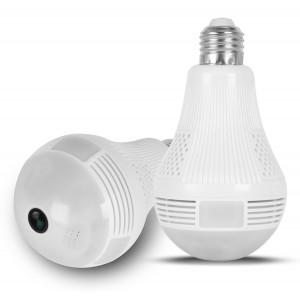 Λάμπα με ενσωματωμένη κάμερα SPY-012, HD 960p, Wi-Fi, 360°, λευκή SPY-012