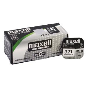 MAXELL Μπαταρία λιθίου για ρολόγια SR616SW, 1.55V, No321, 10τμχ SR616SW
