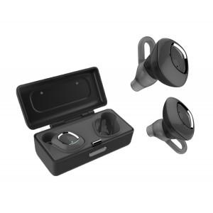 SUPERTOOTH Bluetooth earbuds TW1, True Wireless, με θήκη φόρτισης, μαύρα ST-TW1-BK