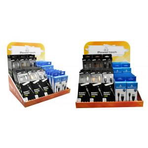 Επιτραπεζιο Stand POWERTECH Magnet & Micro USB Καλωδιων, 70 x 50 x 30 STAND-CRTN-CBL