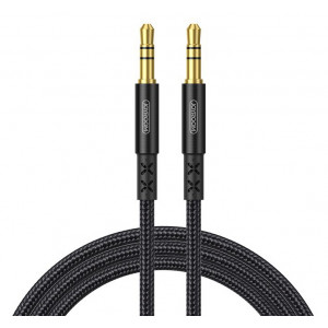 JOYROOM καλώδιο Stereo 3.5mm SY-15A1, AUX, gold plated, 1.5m, μαύρο SY-15A1-BK