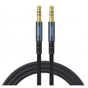 JOYROOM καλώδιο Stereo 3.5mm SY-15A1, AUX, gold plated, 1.5m, μπλε SY-15A1-BL