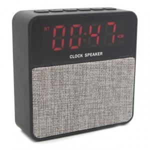 T1 Bluetooth Speaker & Alarm Clock, USB-SD-Line in, Gray T1-GR