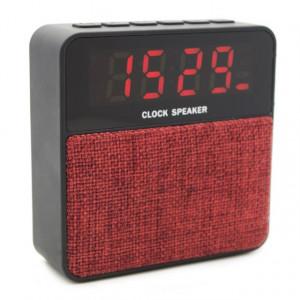 T1 Bluetooth Speaker & Alarm Clock, USB-SD-Line in, Red T1-RD