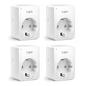 TP-LINK smart αντάπτορας ρεύματος TAPO-P100, Wi-Fi, ΒΤ, Ver. 1.0, 4τμχ TAPO-P100-4