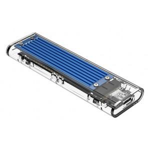 ORICO θήκη για Μ.2 B key SSD TCM2M-C3, USB3.1, 10Gbps, 2TB, μπλε TCM2M-C3-BL-BP