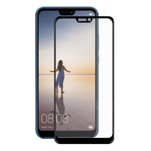 POWERTECH Tempered Glass 5D, full glue, για Huawei P20 Lite 2018 , μαύρο TGC-0155