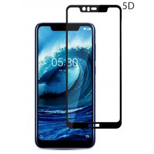 POWERTECH Tempered Glass 5D Full Glue για Nokia 5.1 Plus, Black TGC-0213