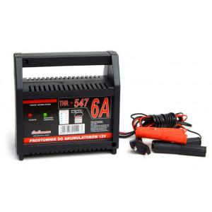 Φορτιστής μπαταριών 12V/6A URZ0370, με LED ένδειξη και ασφάλεια THR-547