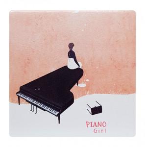 Καθρεφτάκι τσάντας Pink piano TMV-0007-1, 2x & 4x zoom, 8x8cm TMV-0007-1
