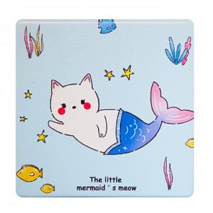 Καθρεφτάκι τσάντας Cyan cat TMV-0007-7, 2x & 4x zoom, 8x8cm TMV-0007-7