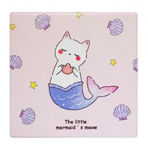 Καθρεφτάκι τσάντας Pink cat TMV-0007-8, 2x & 4x zoom, 8x8cm TMV-0007-8