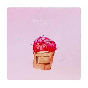 Καθρεφτάκι τσάντας Pink cactus TMV-0007-9, 2x & 4x zoom, 8x8cm TMV-0007-9