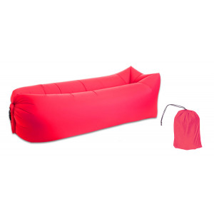 Φουσκωτό στρώμα lazy bag TMV-0026 με τσάντα μεταφοράς, 230x70cm, κόκκινο TMV-0026