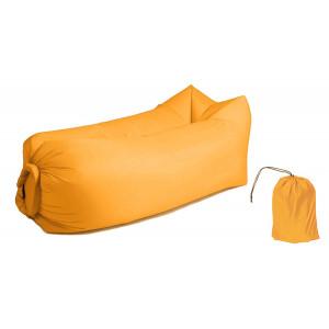 Φουσκωτό στρώμα lazy bag TMV-0027 με τσάντα μεταφοράς, 230x70cm, κίτρινο TMV-0027