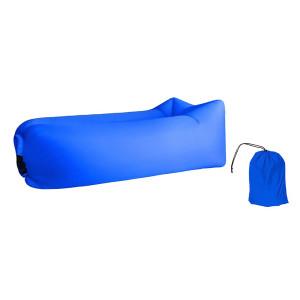 Φουσκωτό στρώμα lazy bag TMV-0028 με τσάντα μεταφοράς, 230x70cm, μπλε TMV-0028