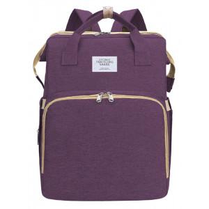 2 in 1 τσάντα πλάτης και παιδικό κρεβατάκι TMV-0051, αδιάβροχη, μωβ TMV-0051