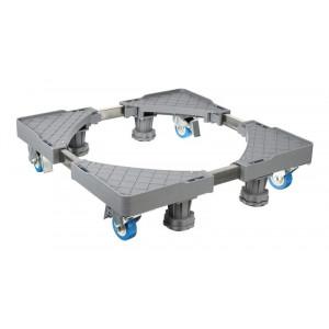 Βάση λευκών συσκευών TOOL-0035 με ρόδες, ρυθμιζόμενη, max 400kg, γκρι TOOL-0035