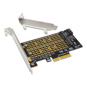 POWERTECH Converter M.2 Key M & B NVMe σε PCIe x4 TOOL-0049 TOOL-0049