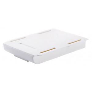 Πλαστικό ράφι γραφείου TOOL-0056, 21.5 x 15 x 3.5cm, λευκό TOOL-0056