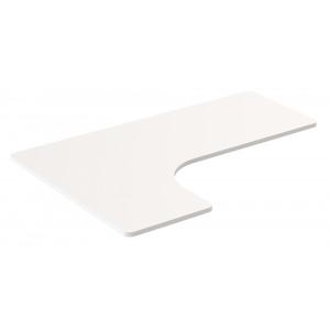 BRATECK επιφάνεια εργασίας σχήματος L TP16060L, 1600x1100mm, λευκό TP16060L