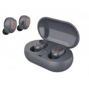 YISON bluetooth headset TWS-T1-GR, true wireless, με θήκη φόρτισης, γκρι TWS-T1-GR
