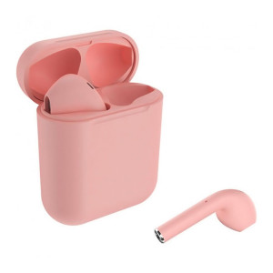 CELEBRAT earphones W10, true wireless, με θήκη φόρτισης, ροζ TWS-W10-PK