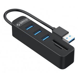 ORICO USB Hub TWU3-3AST, 1x SD, 1x TF, 3x USB ports, μαύρο TWU3-3AST-BK-EP