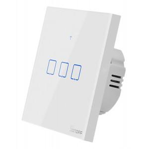 SONOFF smart διακόπτης ΤΧ-T2EU3C, αφής, τριπλός, λευκός TX-T2EU3C