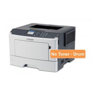 LEXMARK used Printer MS415dn, Laser, Monochrome, no toner & drum UN-MS415DN