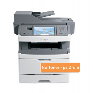 LEXMARK used MFP Printer X466de, Mono, Laser, με drum, no toner UN-X466DE