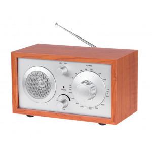 AZUSA φορητό ραδιόφωνο E-3023 με ηχείο, AM/FM, ξύλινο URZ2044