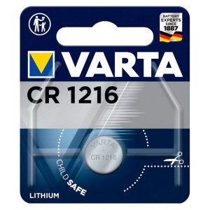 VARTA μπαταρία λιθίου CR1216, 3V, 1τμχ VCR1216