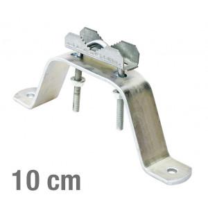VIKAR Βάση τοίχου 21002 για στήριξη ιστού, ατσάλινη, 10cm, 2τμχ VIK-21002