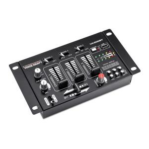 VOICE KRAFT μίκτης ήχου VK300-BT τριών καναλιών USB/Bluetooth/SD, μαύρος VK300-BT