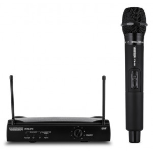 VOICE KRAFT Σετ ασύρματο μικρόφωνο με βάση, jack 6.3mm, μαύρη VKTM-UF01
