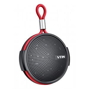 VTIN φορητό ηχείο VNBH221AB, bluetooth, IPX5, 4W, 1000mAh, μαύρο-κόκκινο VNBH221AB