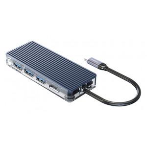 ORICO docking station WB-8P, USB Type-C, 8-ports, γκρι WB-8P-GY-BP